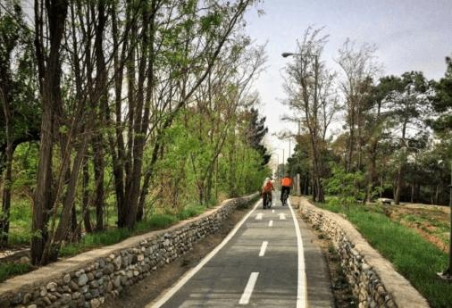 مسیر دوچرخه سواری پارک جنگلی چیتگر
