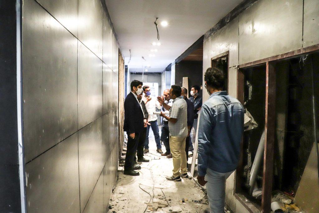 بازدید مدیرعامل محترم موسسه مسکن سازان از روند ساخت برج ارکیده 10